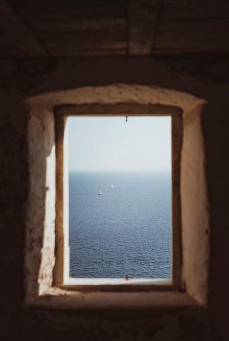 window with ocean view